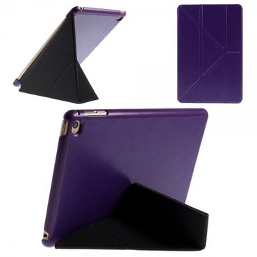 iPad Mini 4 Leder Smart Cover mit Origami Standfunktion - purpur