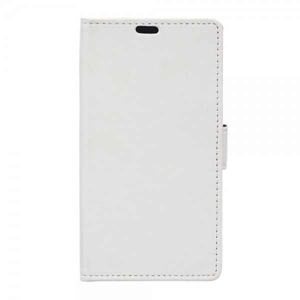 Huawei Mate S Elegantes Leder Cover mit Standfunktion - weiss