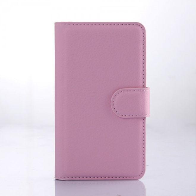 LG Joy Leder Case Hülle mit Litchitextur und Standfunktion - pink