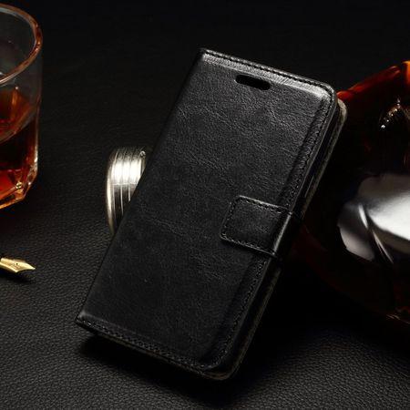 LG Joy Klassische Leder Case Hülle mit Standfunktion - schwarz