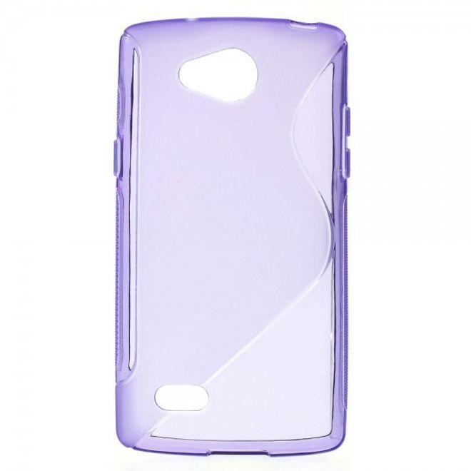 LG Joy Elastische Plastik Cover Hülle S-Shape - purpur