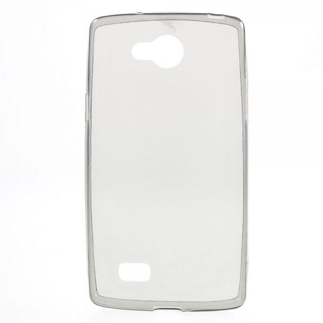 LG Joy Elastische, sanfte Plastik Case Hülle - grau