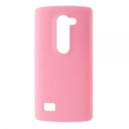 LG Leon Gummierte Hart Plastik Cover Hülle - pink