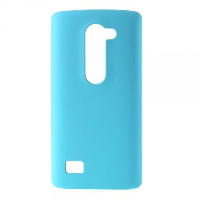 LG Leon Gummierte Hart Plastik Cover Hülle - hellblau