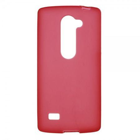 LG Leon Elastische, matte Plastik Case Hülle - rot