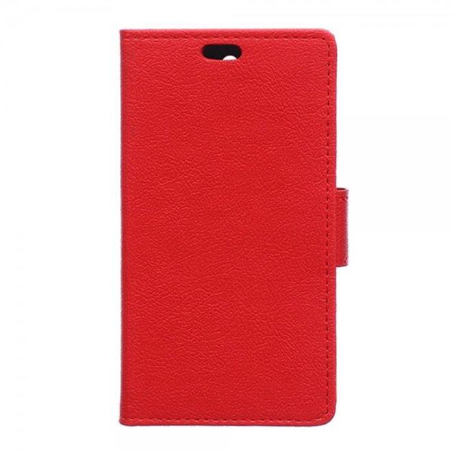 LG V10 Klassisches Leder Flip Case mit Standfunktion - rot
