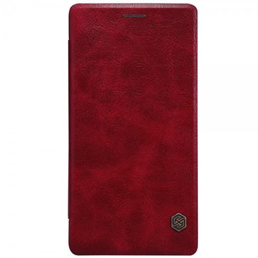 OnePlus 2 Nillkin Qin Series Edle Leder Cover Hülle mit Kreditkartenslots - rot