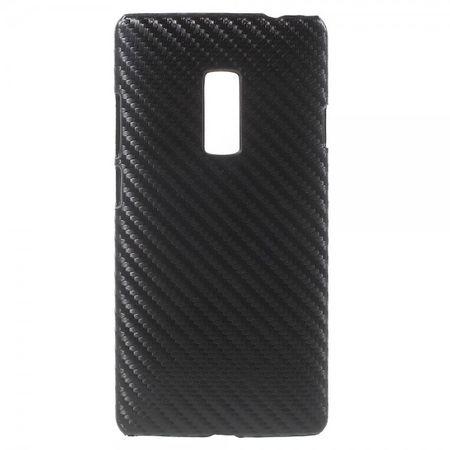 OnePlus 2 Hart Plastik Case Hülle mit Karbontextur - schwarz