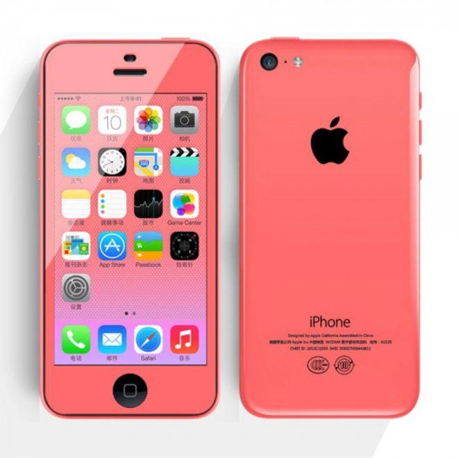 Comma iPhone 5C Schutzfolie mit farbigem Rand von Comma - pink