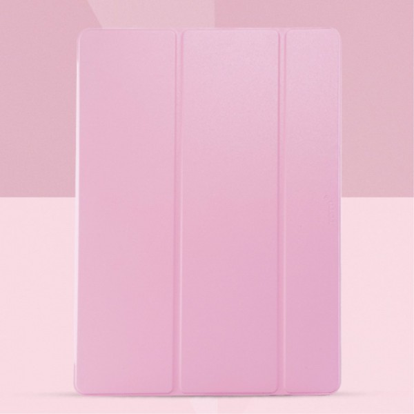 Totu Design iPad Pro 12.9 Totu Smart Air Series Dreifach faltbare Leder Smart Cover Hülle mit Standfunktion - pink