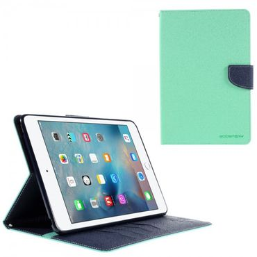 iPad Mini 4 Mercury Goospery Modisches Leder Case mit Standfunktion - cyan