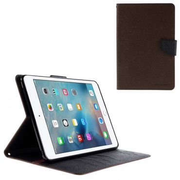 iPad Mini 4 Mercury Goospery Modisches Leder Case mit Standfunktion - kaffeefarben