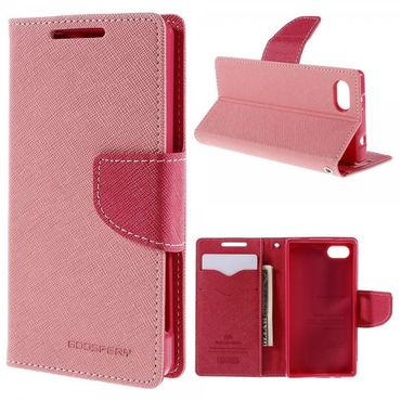 Sony Xperia Z5 Compact Mercury Goospery Modische Leder Case Hülle - pink