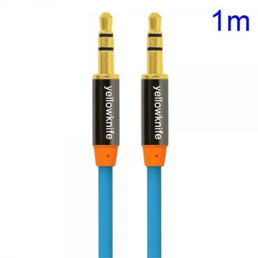 YellowKnife 3.5mm Male zu Male Audio Kabel (1m) - blau