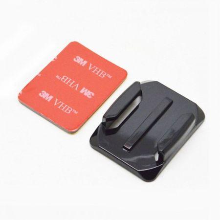 2 Stück abgerundete Flachhalterungen und VHB Sticker für alle GoPro Kameras