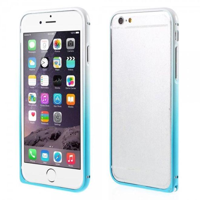MU Style iPhone 6 Plus/6S Plus Metallener Handy Bumper mit Farbverlauf - blau