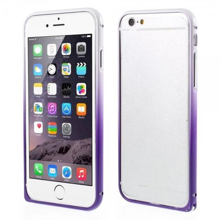 iPhone 6 Plus/6S Plus Metallener Handy Bumper mit Farbverlauf - purpur