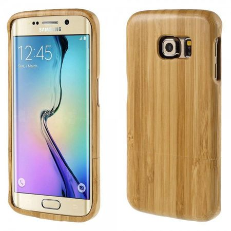 Samsung Galaxy S6 Edge Abnehmbare, zweiteilige Echtholz Cover Hülle - beige