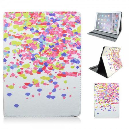iPad Pro 12.9 Leder Flip Cover Hülle mit Standfunktion und farbigem Konfetti