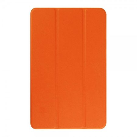 Samsung Galaxy Tab E 9.6 Elegante Leder Tablet Case Hülle mit Standfunktion und Litchitextur - orange