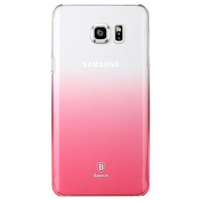Baseus Samsung Galaxy Note 5 Hart Plastik Handy Case mit Farbverlauf von Baseus - transparent/pink