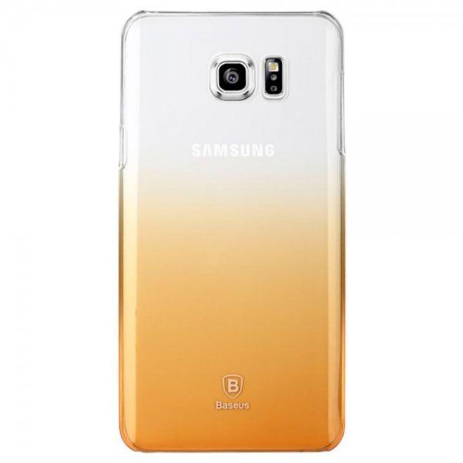 Baseus Samsung Galaxy Note 5 Hart Plastik Handy Case mit Farbverlauf von Baseus - transparent/gold
