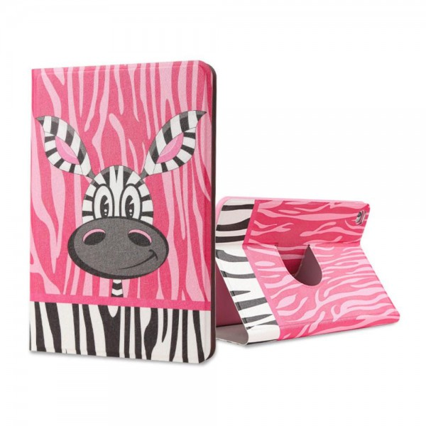 Lofter iPad Mini 4 Lofter Cartoon Series Smart Leder Case Hülle mit niedlichem Zebra