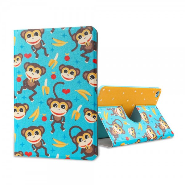 Lofter iPad Mini 4 Lofter Cartoon Series Smart Leder Case Hülle mit kleinen Affen