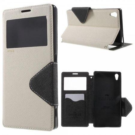 Sony Xperia Z5 Premium/Premium Dual Roar Korea Diary View Series Leder Handy Case mit kleinem Fenster - weiss