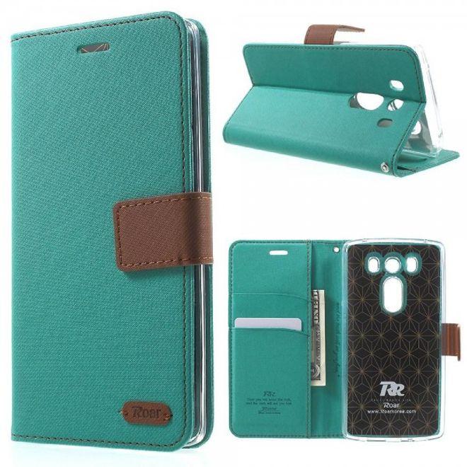 Roar LG V10 Modische Leder Handy Tasche mit Köpermuster von Roar Korea - grün