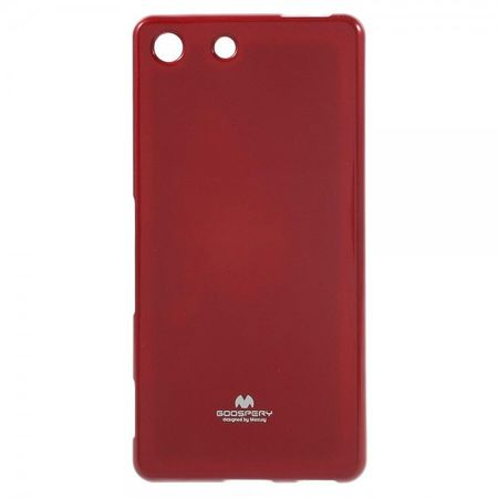 Goospery - Sony Xperia M5/M5 Dual Handy Hülle - TPU Soft Case - Pearl Jelly Series - rot