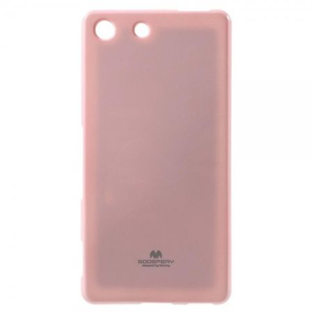 Goospery - Sony Xperia M5/M5 Dual Handy Hülle - TPU Soft Case - Pearl Jelly Series - rosa