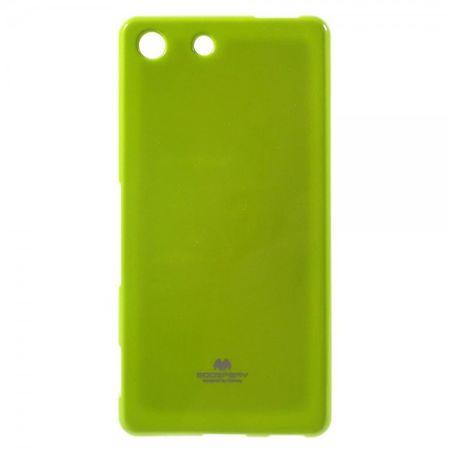 Sony Xperia M5/M5 Dual Mercury Goospery Elastische, leicht glänzende Plastik Handy Hülle - grün