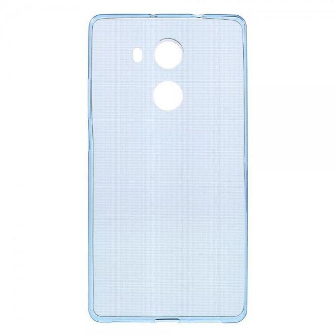 Huawei Mate 8 Ultradünne, elastische Plastik Handy Hülle - dunkelblau