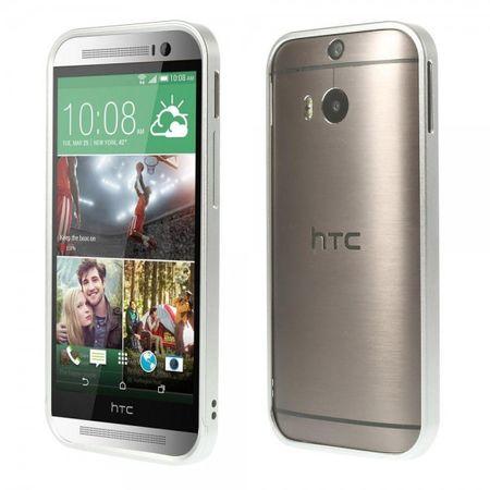 HTC One (M8) Aluminium Bumper Rahmen - silber