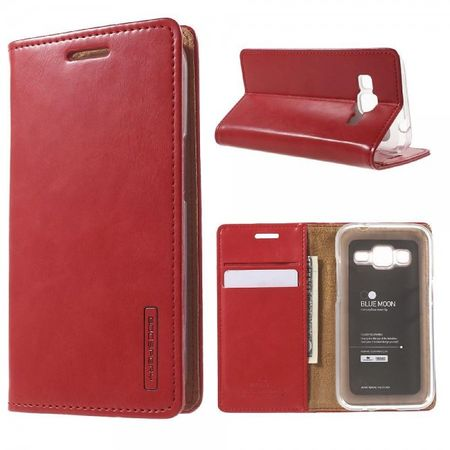 Goospery - Samsung Galaxy Core Prime Hülle - Handy Bookcover - Bluemoon Flip Series - rot