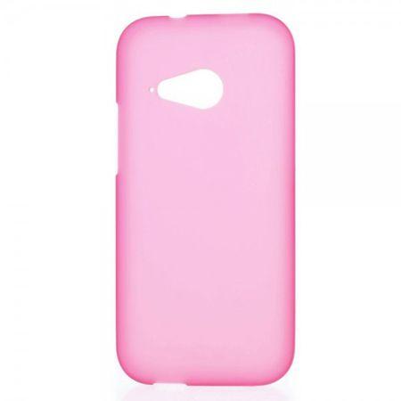 HTC One Mini 2 (M8 Mini) Elastische, matte Plastik Cover Hülle - rosa