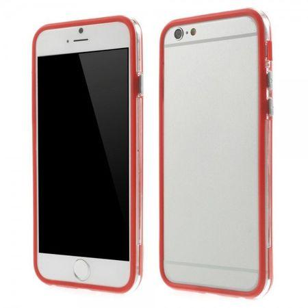 iPhone 6/6S Elastisches Plastik Hybrid Bumper Case - rot