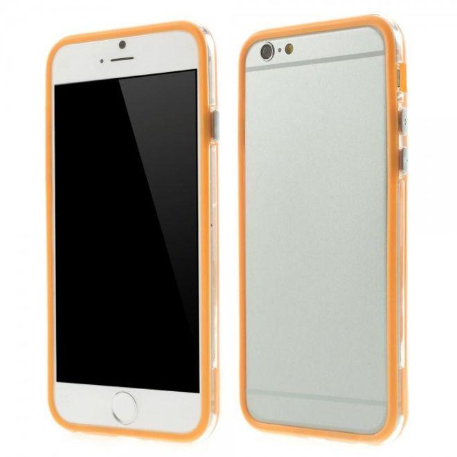 iPhone 6/6S Elastisches Plastik Hybrid Bumper Case - orange