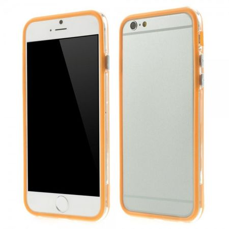 iPhone 6/6S Elastisches Plastik Hybrid Bumper Case - orange