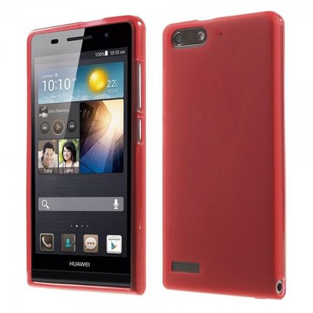 Huawei Ascend G6 Elastische, matte Plastik Cover Hülle - rot