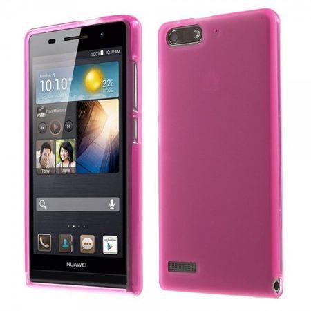 Huawei Ascend G6 Elastische, matte Plastik Cover Hülle - rosa