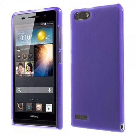 Huawei Ascend G6 Elastische, matte Plastik Cover Hülle - purpur