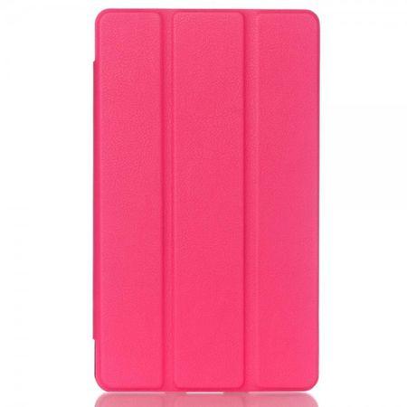 Huawei MediaPad M2 8.0 Dreifach faltbare Leder Case Hülle mit Litchitextur und Standfunktion - rosa