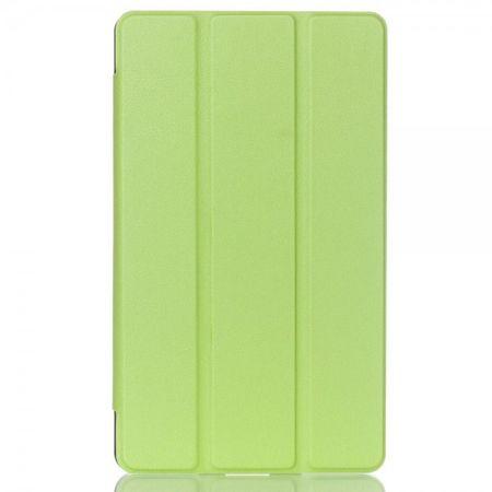 Huawei MediaPad M2 8.0 Dreifach faltbare Leder Case Hülle mit Litchitextur und Standfunktion - grün