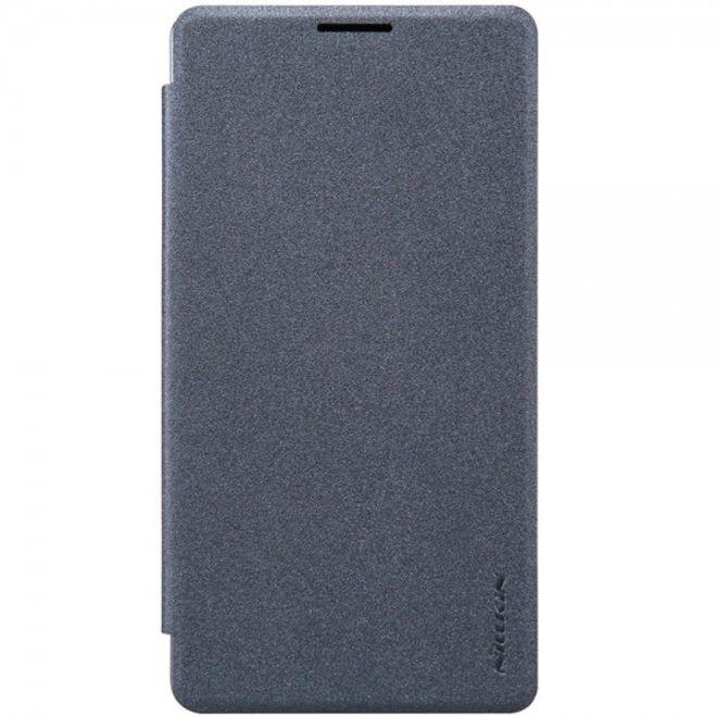 Nillkin Microsoft Lumia 950 XL Nillkin Sparkle Series Leder Flip Case Handy Hülle - schwarz