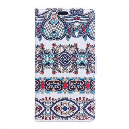 Huawei Mate 8 Leder Case Handy Hülle mit Retro Muster