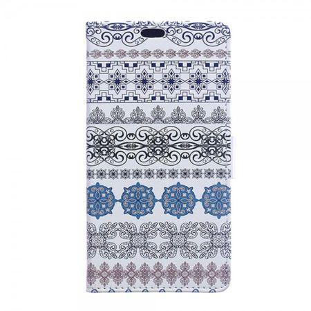 Huawei Mate 8 Leder Case Handy Hülle mit klassischem Blumenmuster