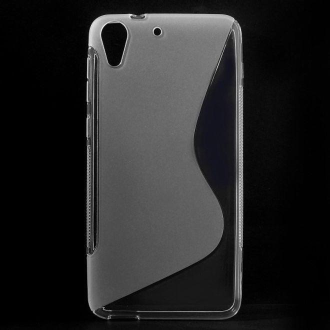 HTC Desire 728 Elastische Plastik Case Hülle S-Shape - transparent