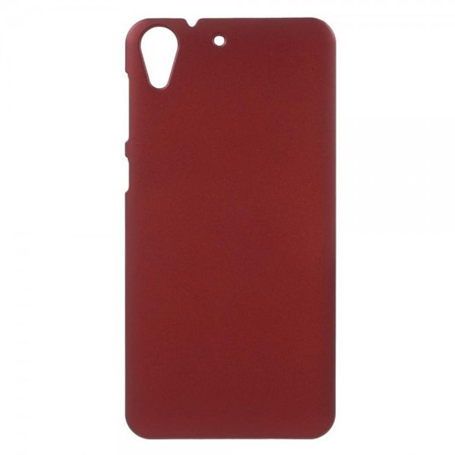 HTC Desire 728 Gummierte Hart Plastik Case Natelhülle - rot